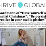 thrive global huffington meg nordmann minimalist christmas