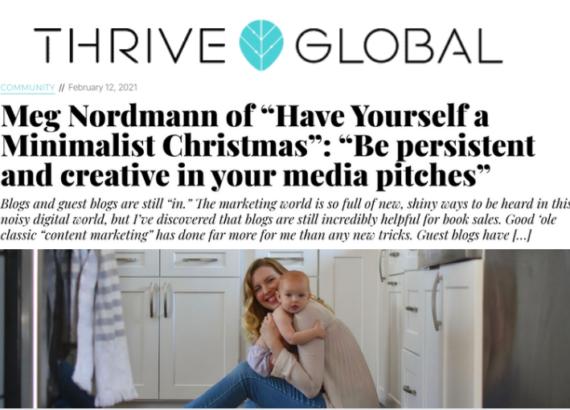 thrive global huffington meg nordmann minimalist christmas