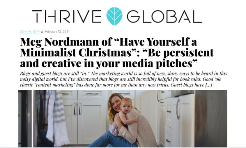 "Meg Nordmann Interviewed on Huffington's ""Thrive Global"""