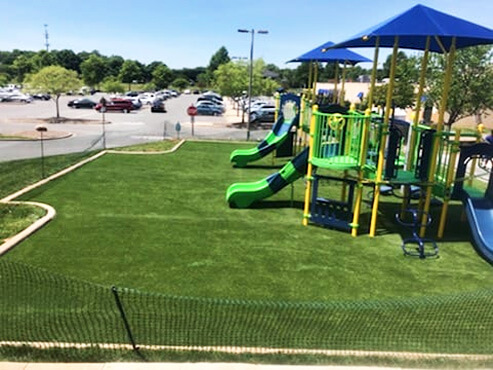 Playground at Club with SYNTHETIC turf