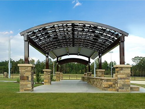 Chestnut Square – 2 – 85′ ARBORS and Picnic Shelter