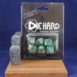 Die Hard Dice: Green Swirl w/Gold