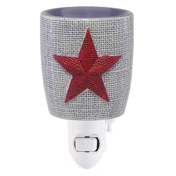 Scentsy Burlap Star Mini Warmer