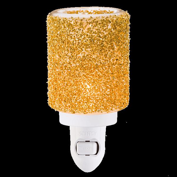 Scentsy Gold Glitter Mini Warmer