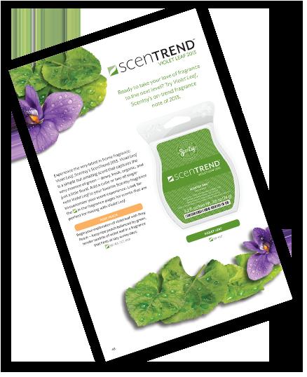 Scentsy ScenTrend Violet Leaf