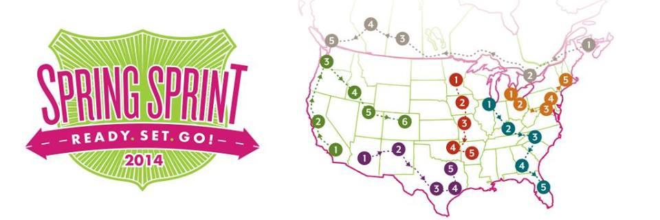 Scentsy Sprint Sprint 2014 map