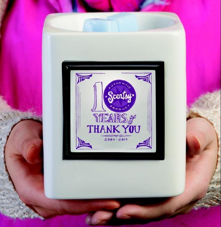 Scentsy 10th Anniversary Warmer