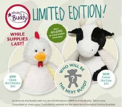 Cow Chicken Scentsy Buddy