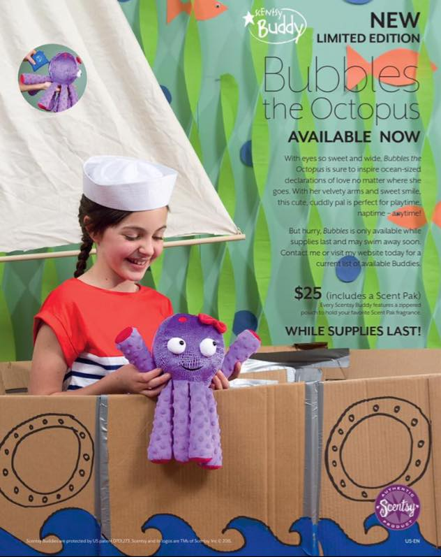 Bubbles The Octopus Scentsy Buddy