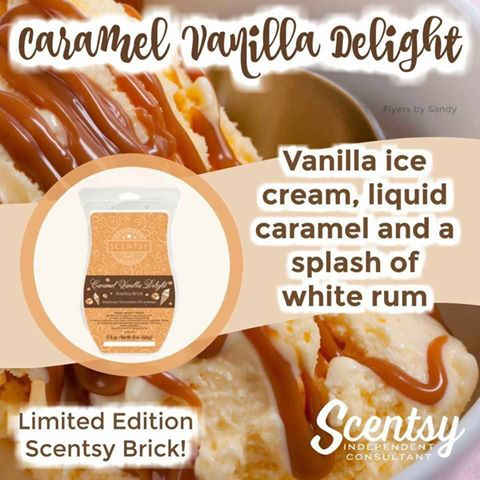Scentsy Brick Caramel Vanilla Delight