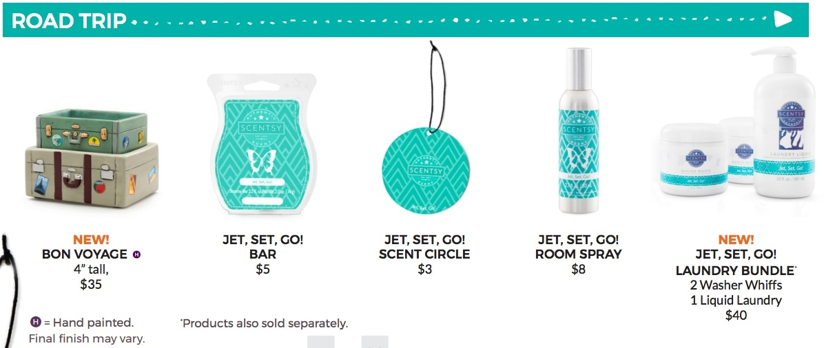 Scentsy Road Trip Summer collection