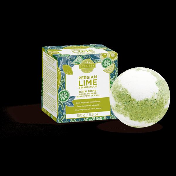 Persian Lime and Sandalwood Bath Bomb