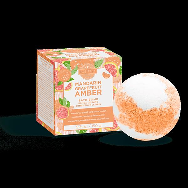 Mandarin Grapefruit Amber Bath Bomb