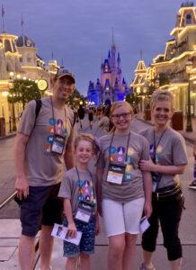 DisneyWorld castle family