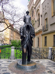 """Old Town statue is called """"Kafka"""""""