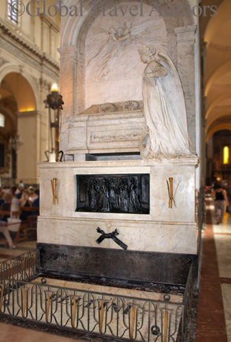 Tomb of famous composer Bellini in Duomo Cathedral in Catania, Sicily