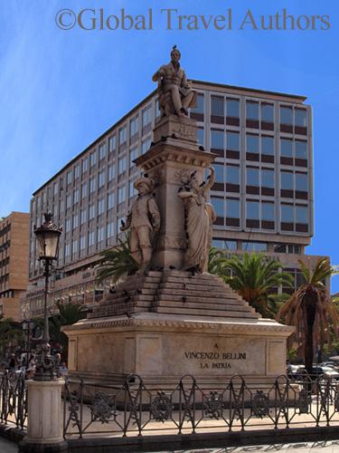 Monument to composer Vincenzo Bellini in Catania, Sicily