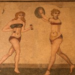 Roman girls mosaic in Sicily