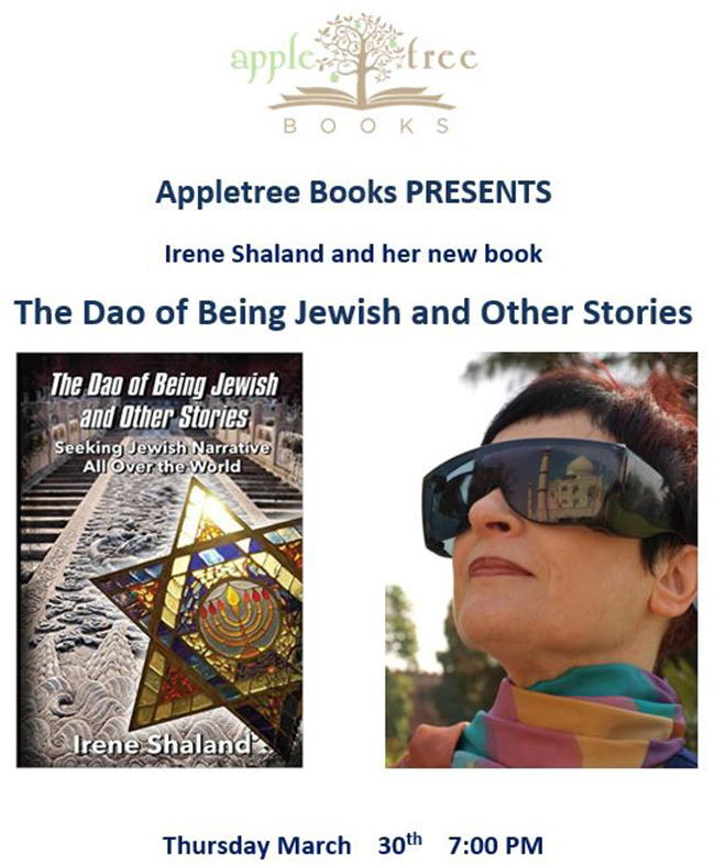 flyer for book event at Appletree Books store