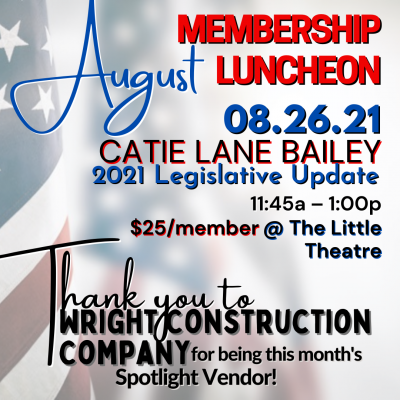 August General Membership Luncheon @ Chattanooga Theatre Centre (The Little Theatre)