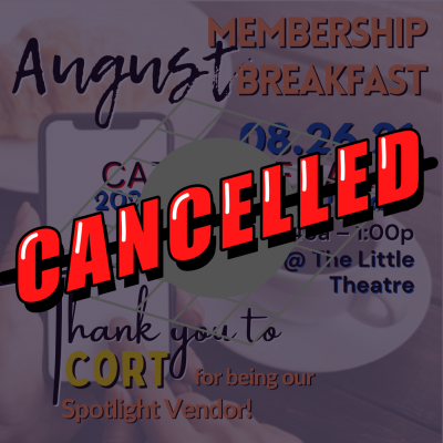 CANCELLED - August General Membership Luncheon @ Chattanooga Theatre Centre (The Little Theatre)