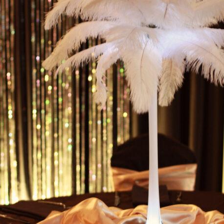 OOOstrich feather centerpiece