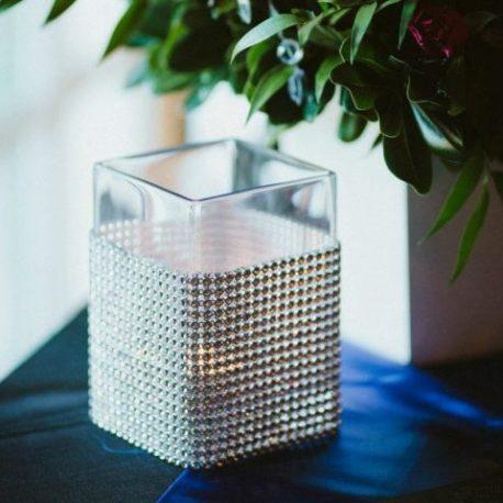 5 inch diamond wrap rectangle vase