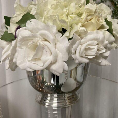 silver flower bowl