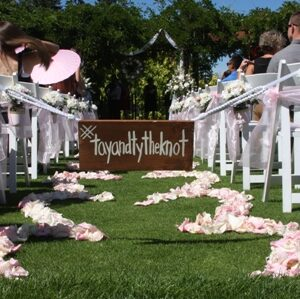 Ceremony site at Bear Mountain by Designer Weddings