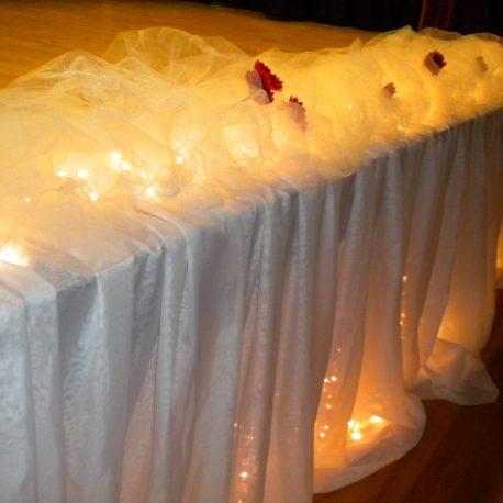 stage skirt by designer Weddings