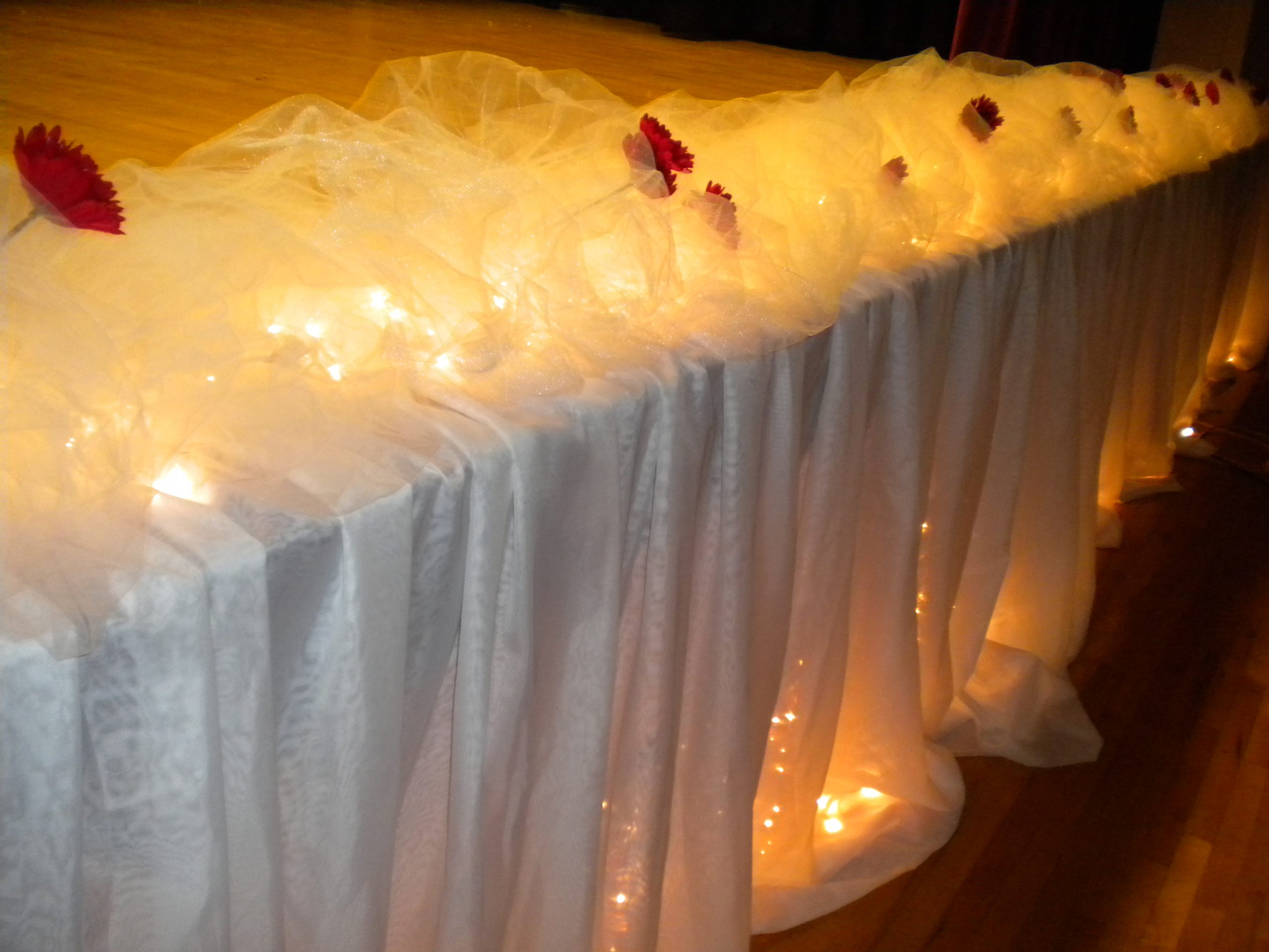 stage skirt by designer Weddings