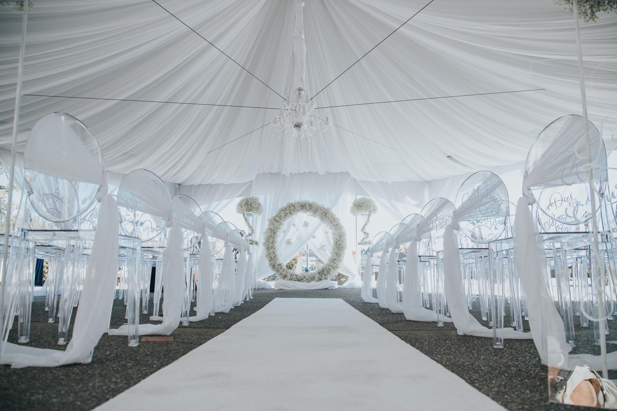 Full Tent Drape by Designer Weddings Inc in Victoria BC