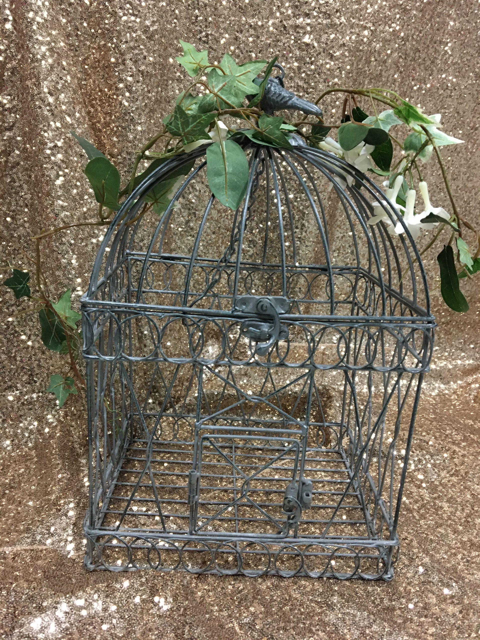 Pewter bird cage