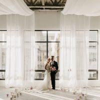 white wedding ceremony by Designer Weddings