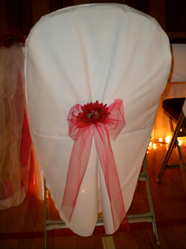 Tuxedo chair cover by Designer Weddings