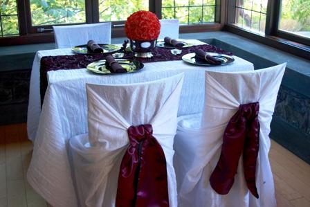 Chair wraps by Designer Weddings