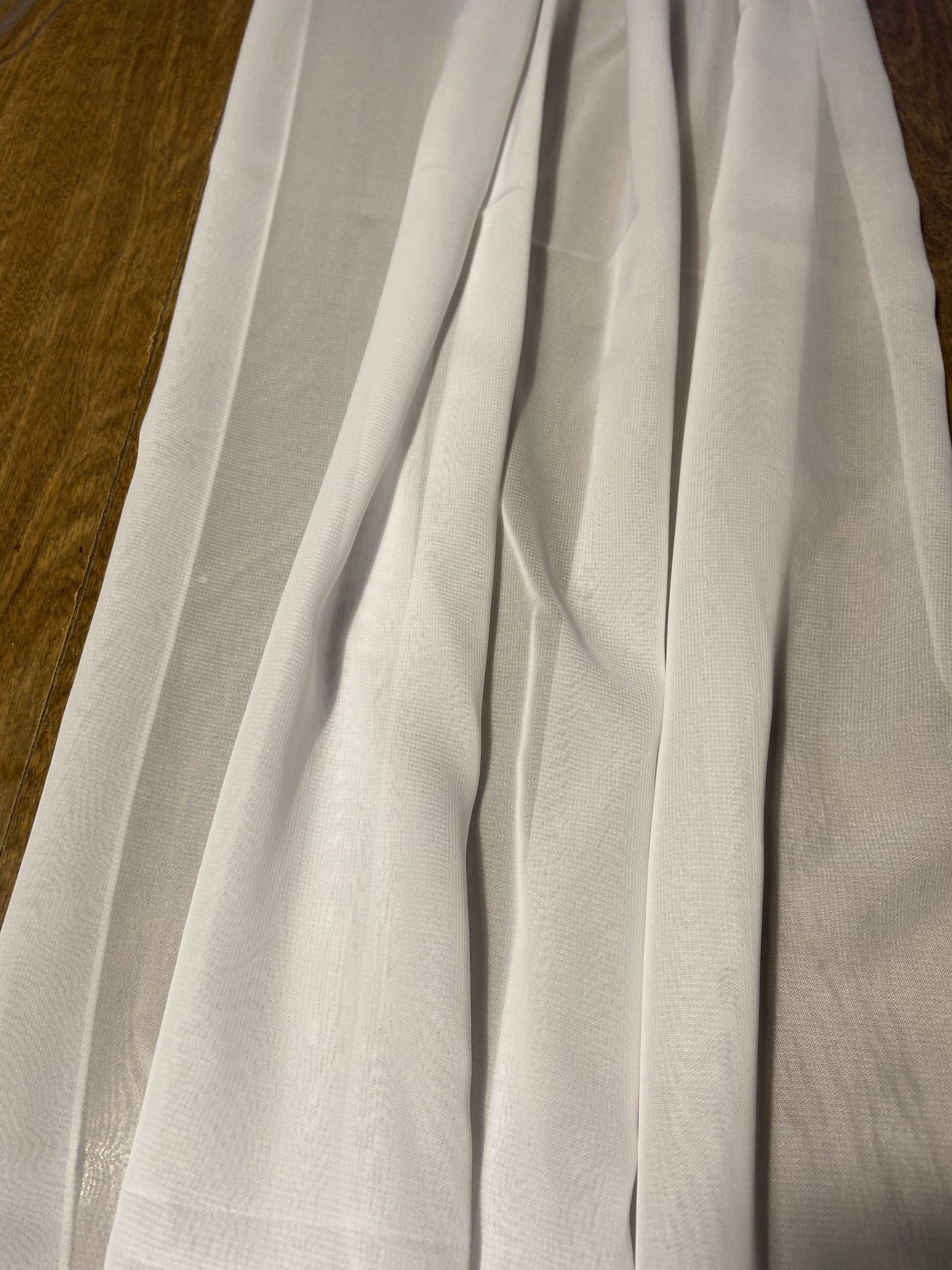 white chiffon table runners
