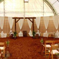 Burlap backdrop by Designer Weddings in Victoria BC