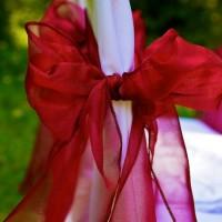 cranberry organza chair sash