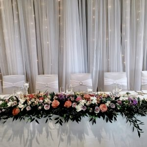 twinkle light backdrop by Designer Weddings Victoria