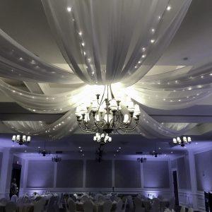 pinwheel ceiling treatment by Designer Weddings Victoria