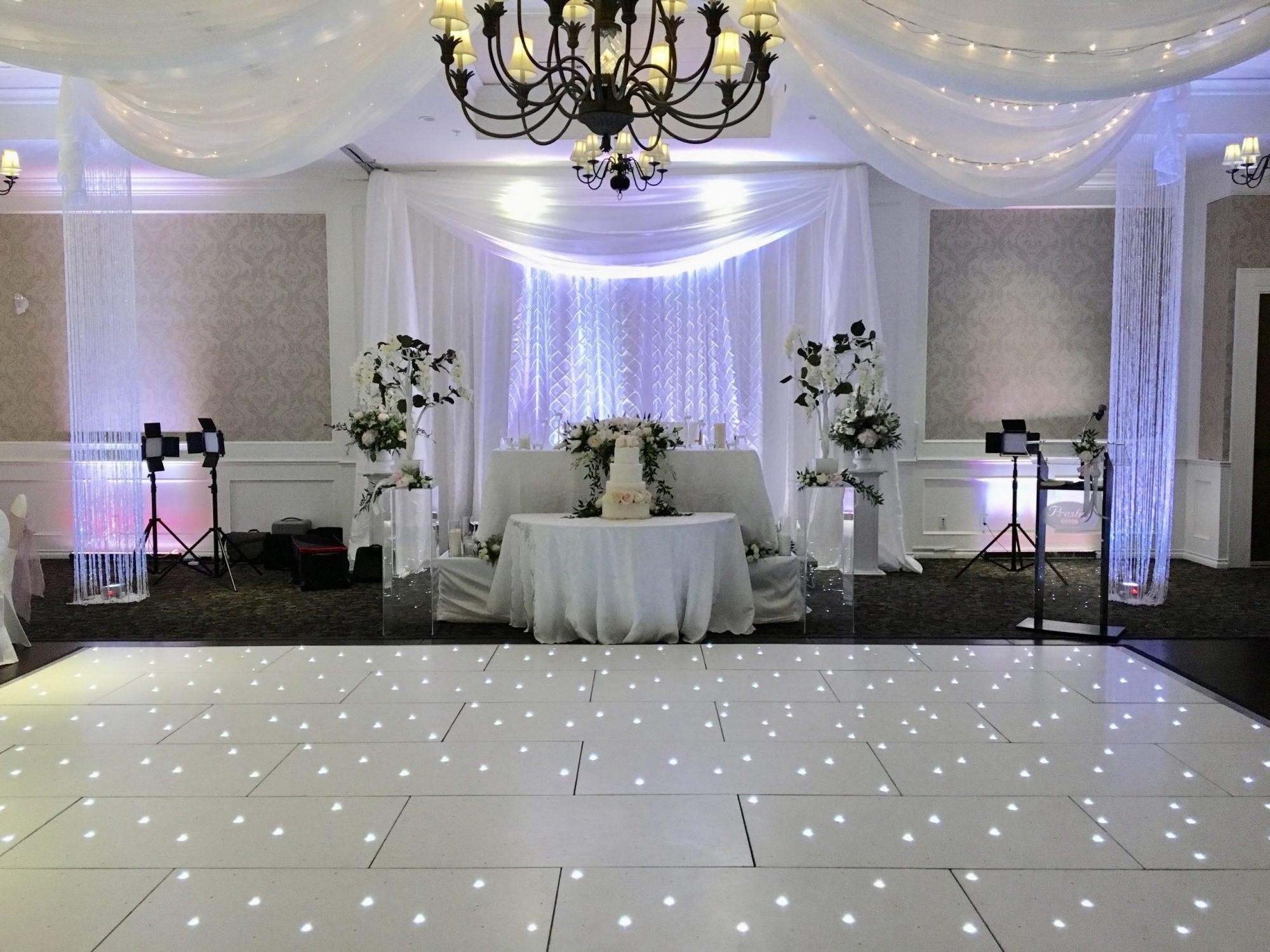 crystal columns by Designer Weddings