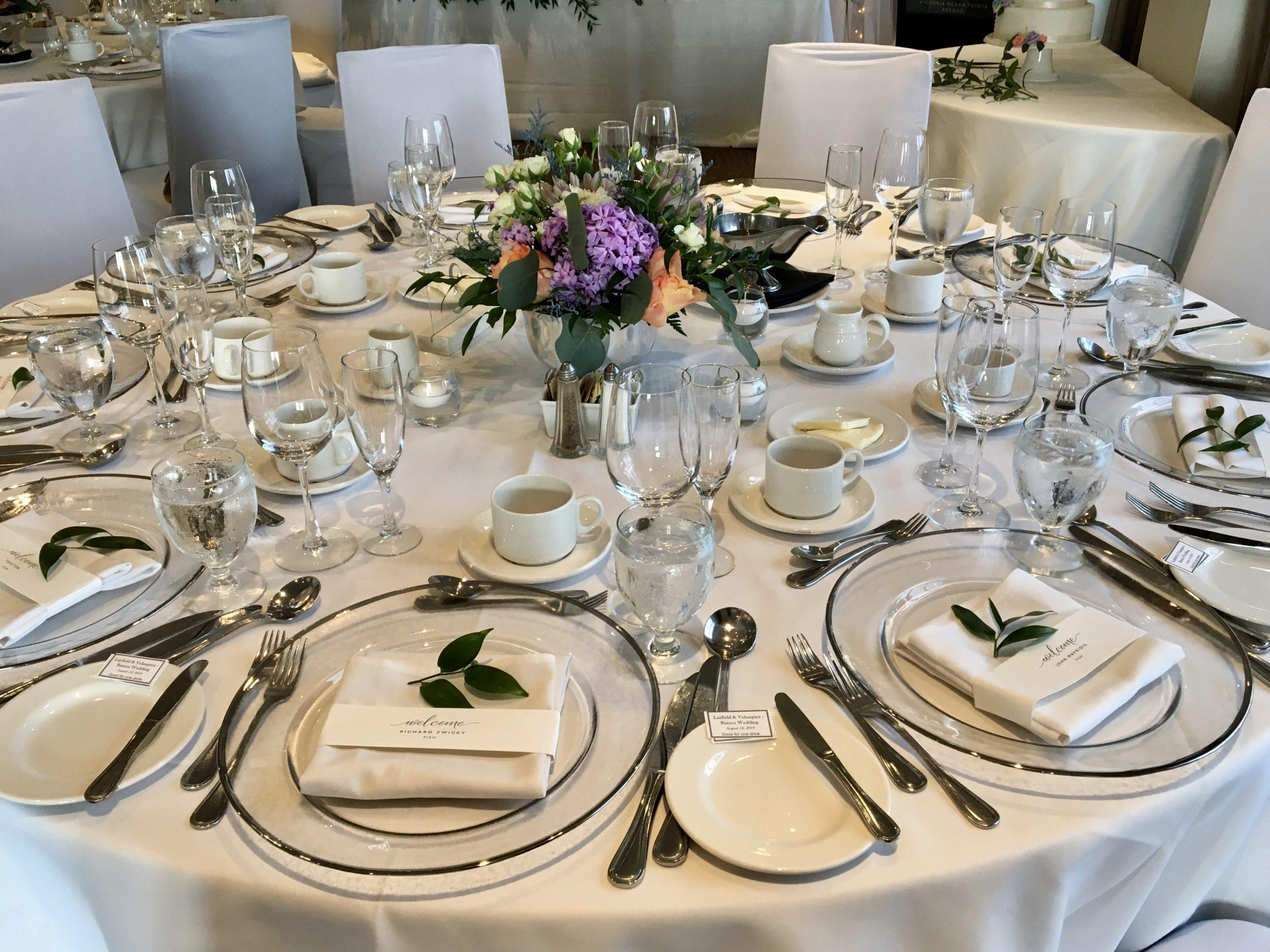 Guest Table Package by Designer Weddings