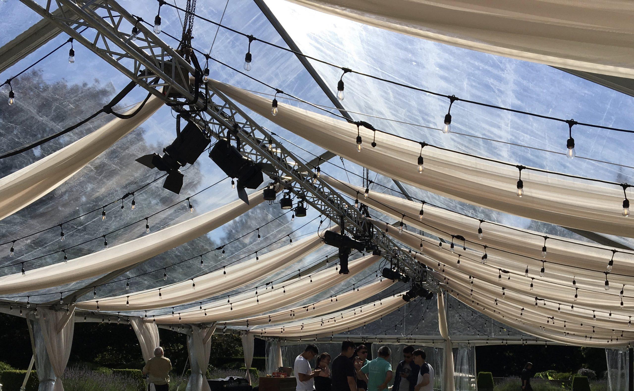 Tent ceiling sails