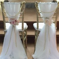Chair sashes by Designer Weddings Victoria