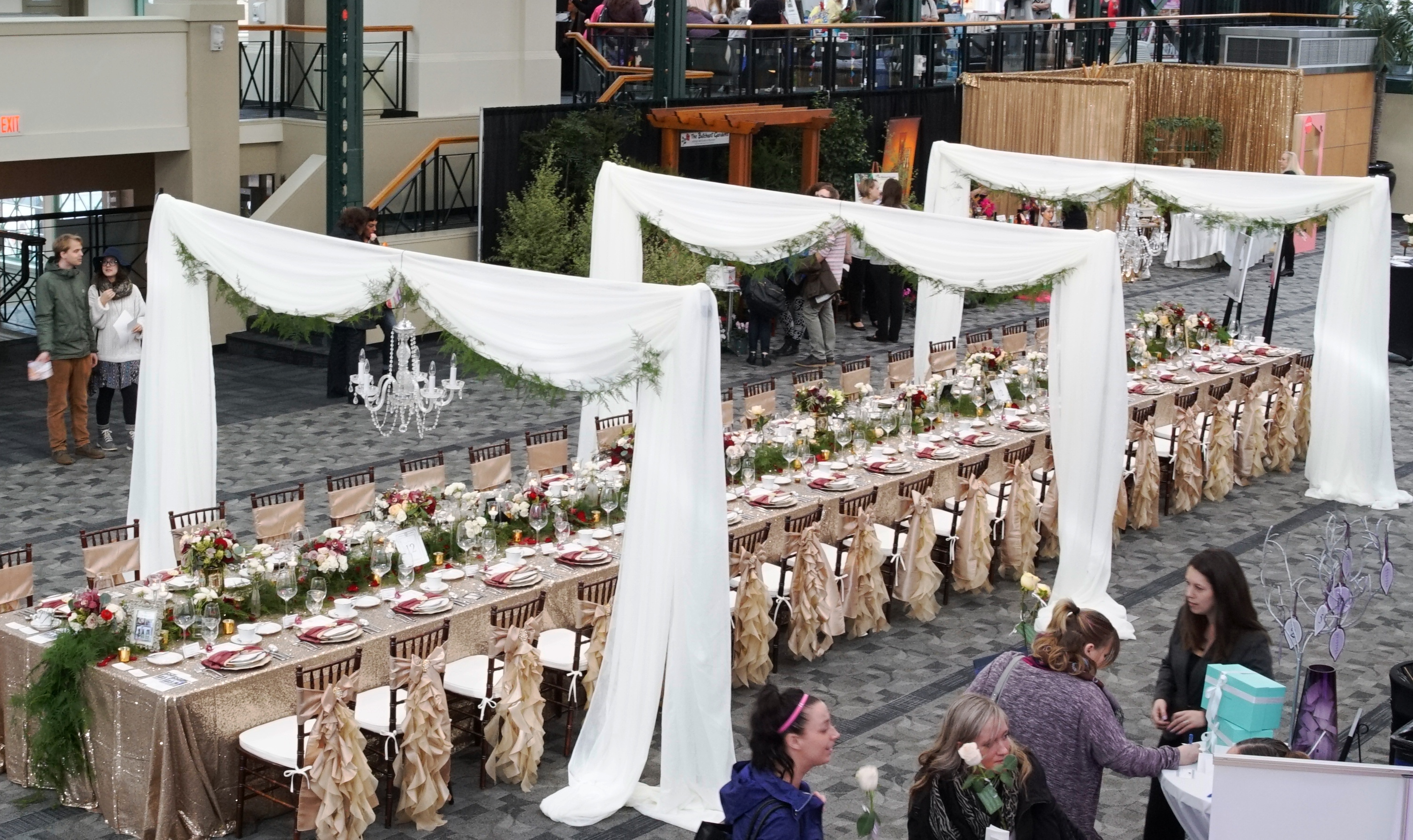 Head table archways or grand aisle archway by Designer Weddings in Victoria BC