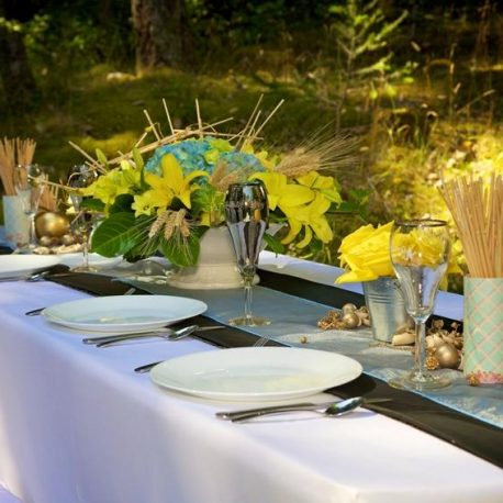polyester tablecloths by Designer Weddings