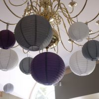 purple white and silver chinese lanterns in the Colwood Golf Course