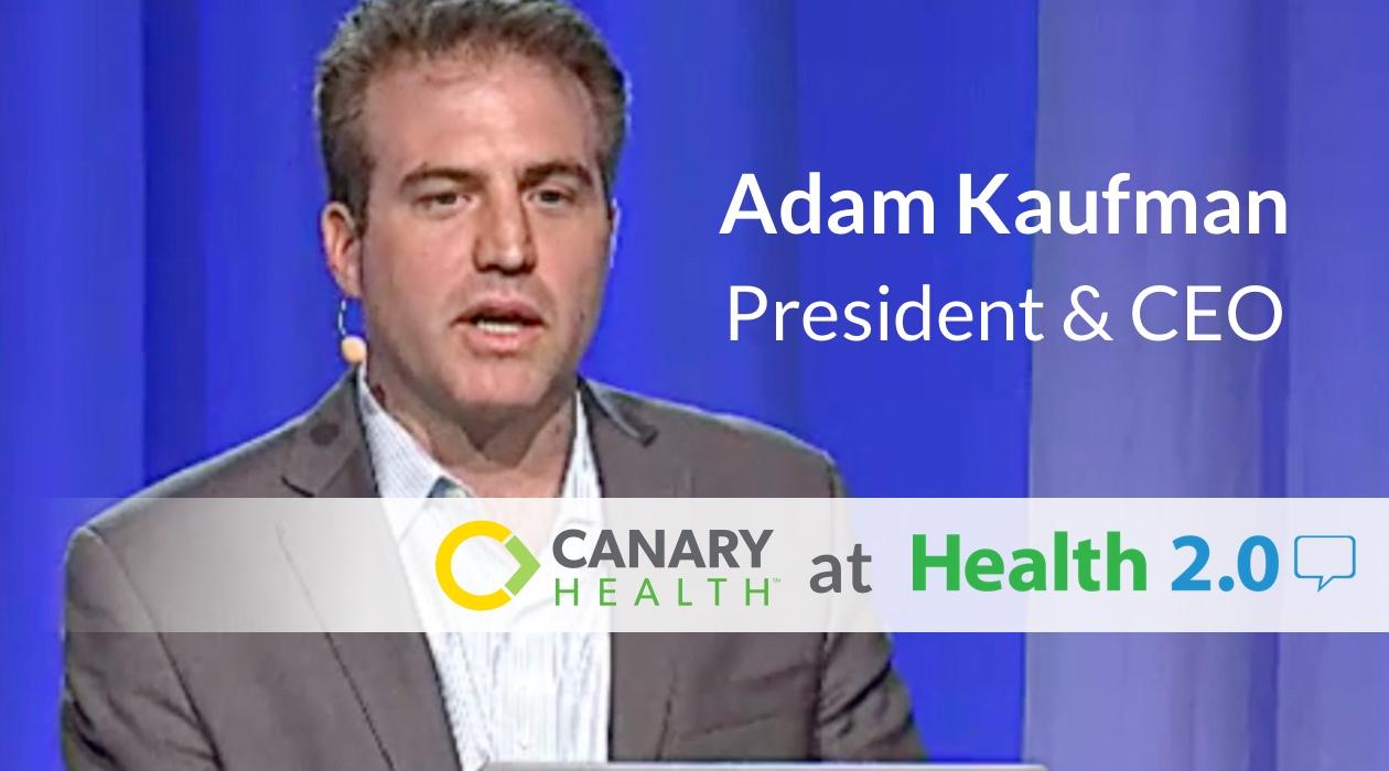 Adam Kaufman, CEO Canary Health, demos online Better Choices, Better Health self-management program