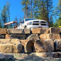 Boulder walls Sandpoint Idaho